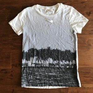 Madewell Linen Palm T-shirt NWT XS